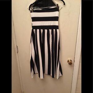 Stripe bandeau  dress,